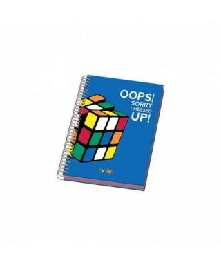 Cuaderno espiral tapa dura A5 RUBIKS azul, DOHE – Colección COLOR RU