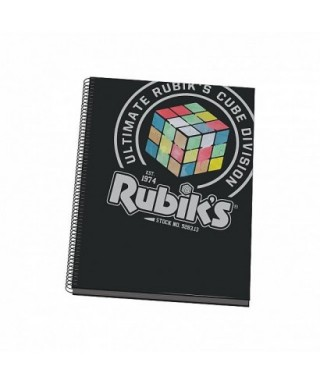 Cuaderno espiral tapa dura A4 RUBIKS negro, DOHE – Colección URBAN R