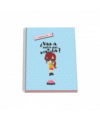 Cuaderno espiral tapa dura A4  MUYMUMMY azul, DOHE – Colección MUYMUM
