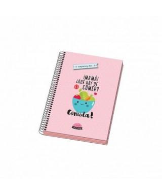 Cuaderno espiral tapa dura A5 MUYMUMMY rosa, DOHE – Colección MUYMUMM
