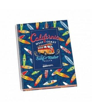 Cuaderno espiral tapa dura A4 VOLKSWAGEN, DOHE – Colección SURF VOLKS