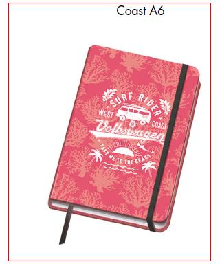 Cuaderno A6 modelo COAST, DOHE – Colección VESTA VOLKSWAGWEN 2017 - 1