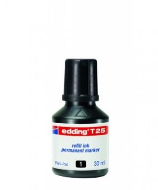 Tinta rellenado rotulador permanente negro- EDDING - T25-001