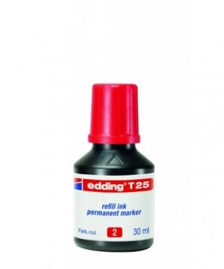 Tinta rellenado rotulador permanente rojo- EDDING - T25-002