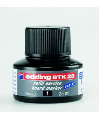 Tinta negra rellenar rotuladores pizarra- EDDING - BTK 25-001