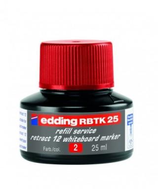 Tinta rojo para rellenar rotuladores pizarra- EDDING - BTK 25-002