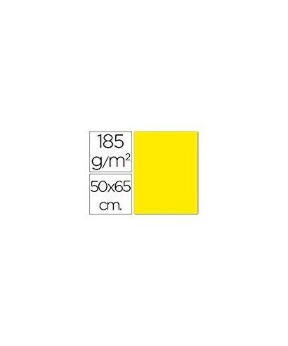 Cartulina 50x65 amarillo canario- CANSON