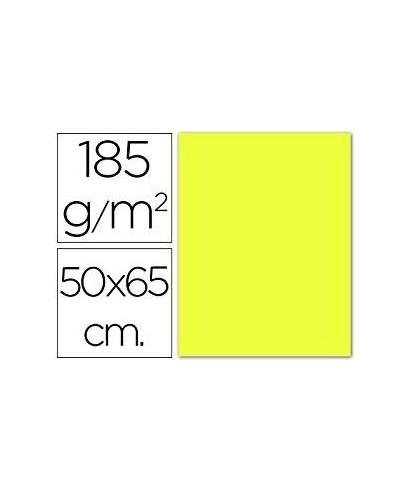 Cartulina 50x65 amarillo limón- CANSON