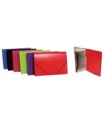 Carpeta clasificadora 12 separadores colores surtidos - 0919
