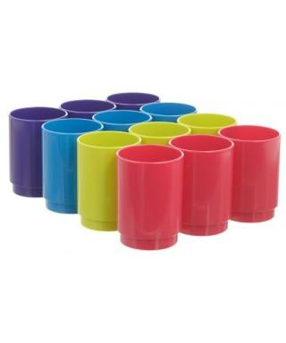 Cubilete colores surtidos LUME- ARCHIVO 2000 - PACK12-3 790 SU