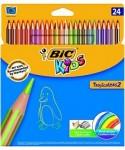 Lápiz madera colores surtidos Kids tropicolor- BIC - 937518