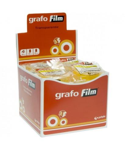 Rollo cinta adhesiva transparente 12mm x66m- GRAFOPLAS