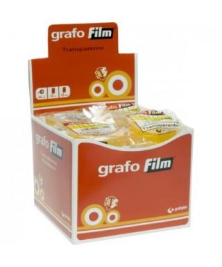 Rollo cinta adhesiva transparente 12mm x33m- GRAFOPLAS