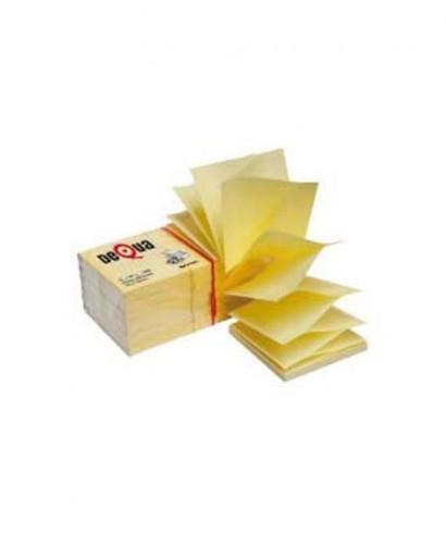 Taco de notas autoadhesivas 76x76mm zig-zag - DEQUA