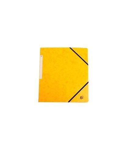Carpeta cartón A4 amarillo solapas- ADVEO - 17383