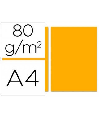 Papel A-4 naranja 80 grs- ADVEO - 67952