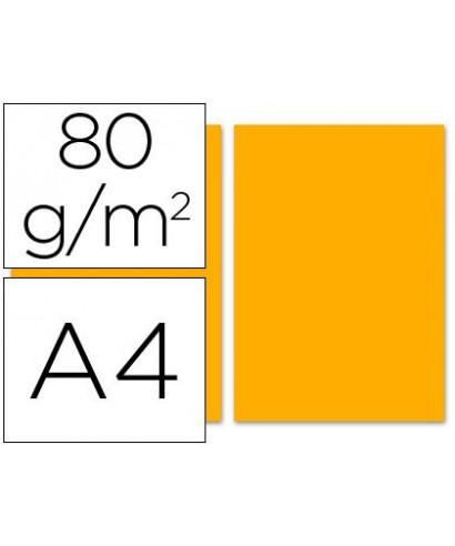 Papel de color naranja A4 - 80 gr. Paquete de 500 hojas.