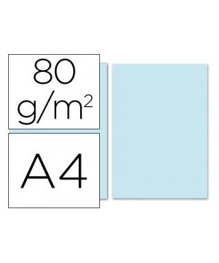 Papel de color azul A4 - 80 gr. Paquete de 500 hojas.