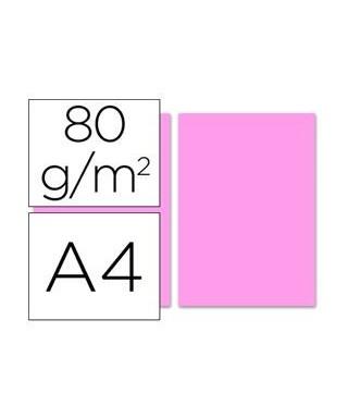 Papel de color rosa A4 - 80 gr. Paquete de 500 hojas.