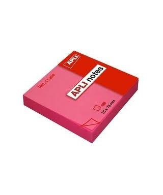 Taco notas adhesivas 76x76 rosa- APLI - 11898