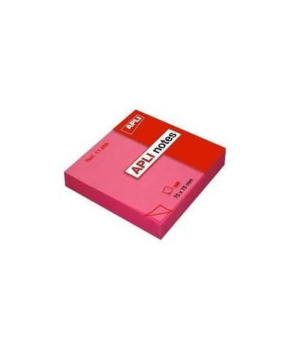 Taco notas adhesivas 76x76 rosa - APLI
