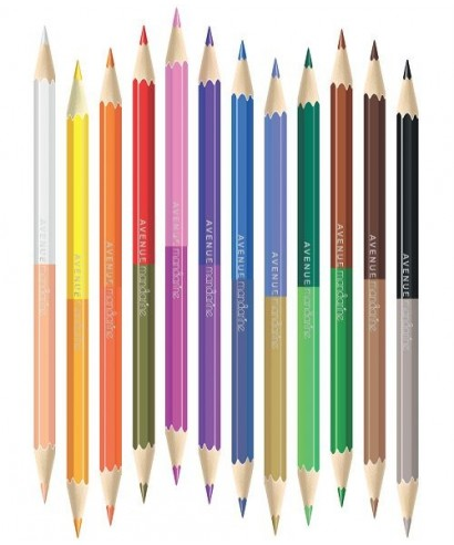 Tubo de 12 lápices de doble punta - MANDARINE - Catálogo Avenue Manda