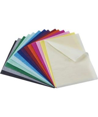 Papel seda 50x75 cm color azul claro pack 25 unidades