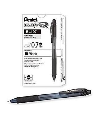 Bolígrafo retráctil tinta gel negro- PENTEL - BL107A