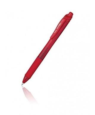 Bóligrafo rojo de tinta gel retráctil
