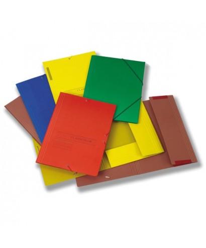 Carpeta cartón folio azul con gomas