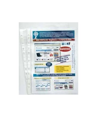 Funda multitaladro folio con textura cristal. Económica