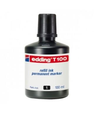 Bote tinta negra- EDDING - T-100-01
