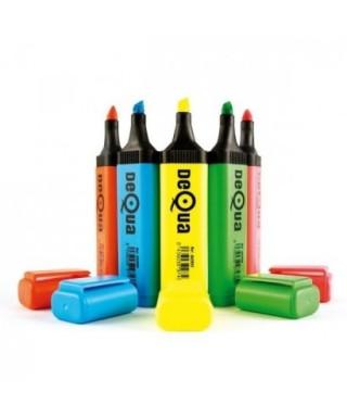 Marcador fluorescente blister 4 colores - DEQUA