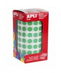 Rollo gomets círculos verdes 10.5mm- APLI - 4854