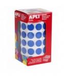Rollo gomets círculos azul 15mm- APLI - 4856