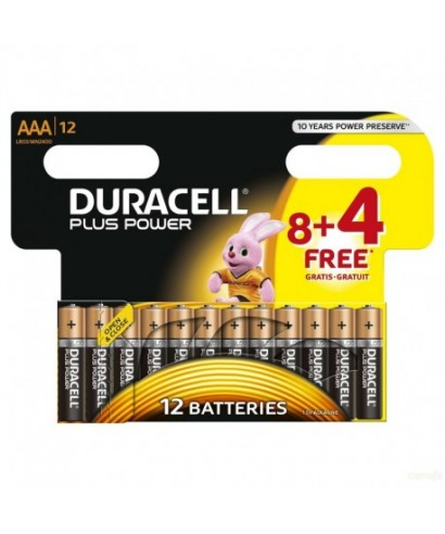 Pila LR-03 AAA Plus Power-Duracell - 8+4