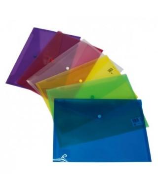 Sobre  broche folio violeta-