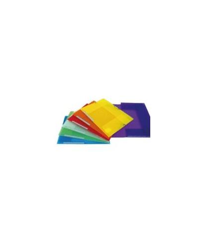 Carpeta plástica con solapa amarillo translucido-