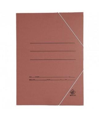 Carpeta cartón folio marrón con gomas. Económica
