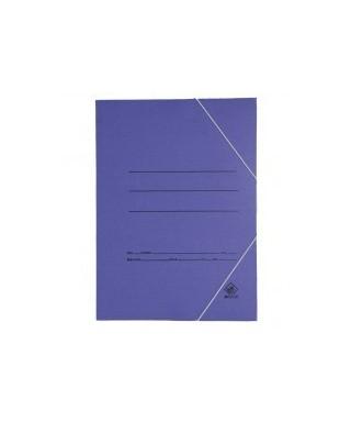 Carpeta cartón folio azul con gomas. Económica