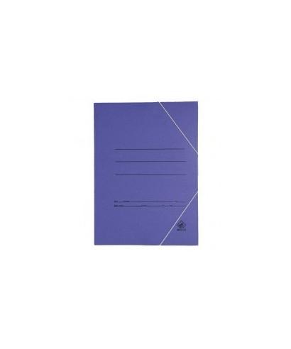 Carpeta cartón folio azul con gomas económica