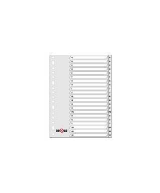 Separador alfabético AZ pp A4 gris GRAFOPLAS 77076471