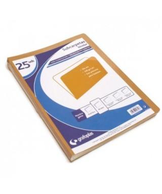 Subcarpetas kraft bicolor folio- 25 unidades - 00017976
