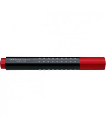 Marcador permanente Grip rojo- FABER - 150421