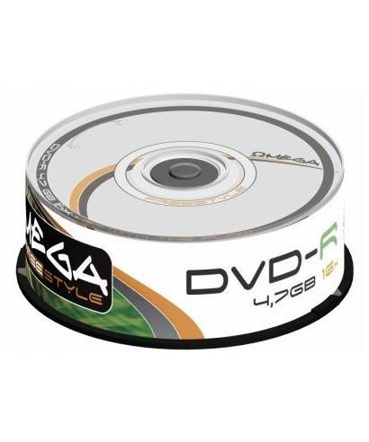 Tarrina DVD+R 16X- OMEGA - OMDF1625+