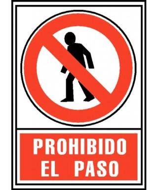 """Cartel """"PROHIBIDO EL PASO""""- ARCHIVO 2000 - 6174-05 RJ"""