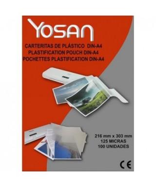 Funda plastificar A-4 125 micras- YOSAN -