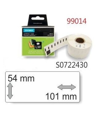 Rollo 220 etiquetas blancas 101x54mm rotuladora- DYMO - 99014 / S072