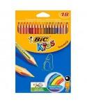 Lápiz madera colores surtidos Kids tropicolor- BIC - 937517