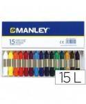 Ceras 15 colores surtidos- MANLEY - MNC00055